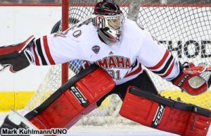 Nebraska Omaha goaltender Ryan Massa